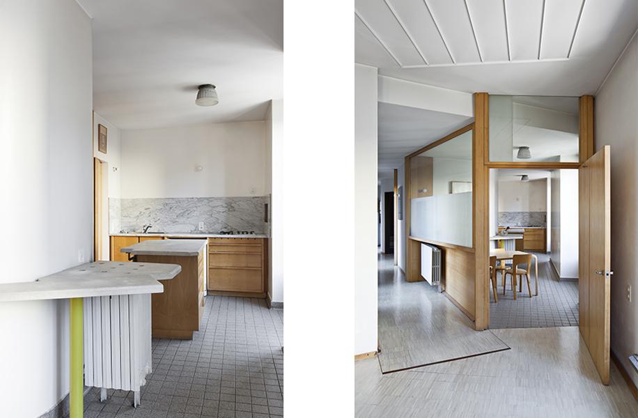 Percorso fluido tra spazi residenziali nella progettazione d'interni di Umberto Riva. Casa Insinga.