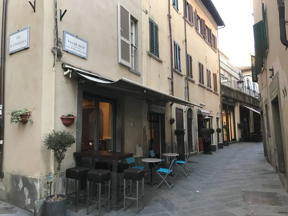 Viasolferino arredamento locali Fiaschetteria Arezzo